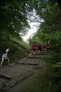 Trail de faverges montée des marches