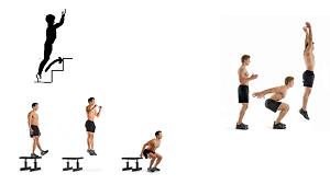 Exercices renforcement musculaire avec les bondissements